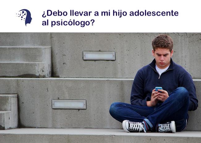 ¿Debo llevar a mi hijo adolescente al psicólogo?